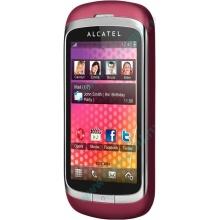 Красно-розовый телефон Alcatel One Touch 818 (Брянск)