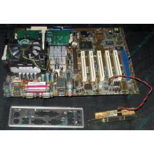 Материнская плата Asus P4PE (FireWire) с процессором Intel Pentium-4 2.4GHz s.478 и памятью 768Mb DDR1 Б/У (Брянск)
